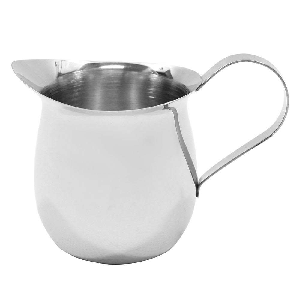 Tablecraft 2308 8-oz Stainless Steel Bell Creamer, Mirror Finish