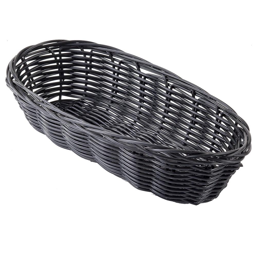 "Tablecraft 2417 Handwoven Basket, 9 x 3-1/2 x 2"", Polypropylene Cord, Oblong"