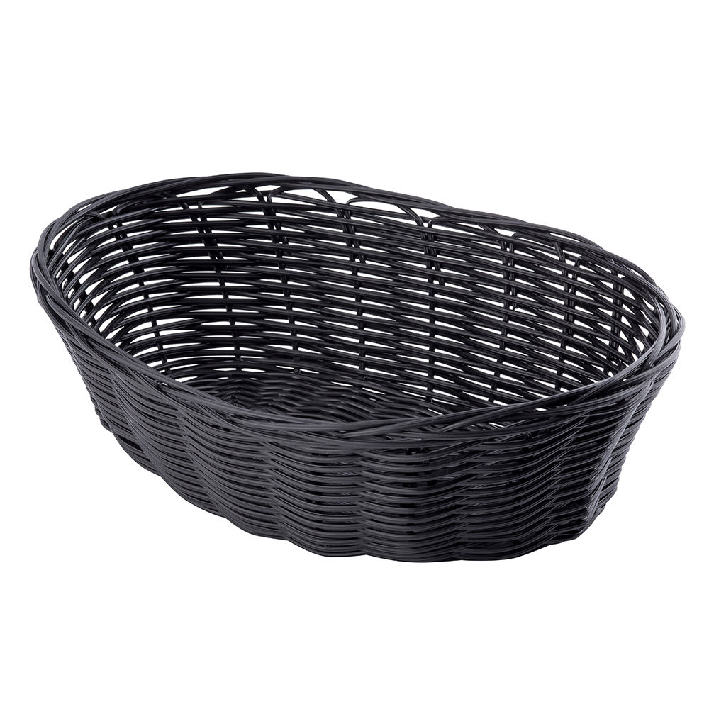 "Tablecraft 2476 Handwoven Basket, 10 x 6-1/2 x 3"", Polypropylene Cord, Oval"