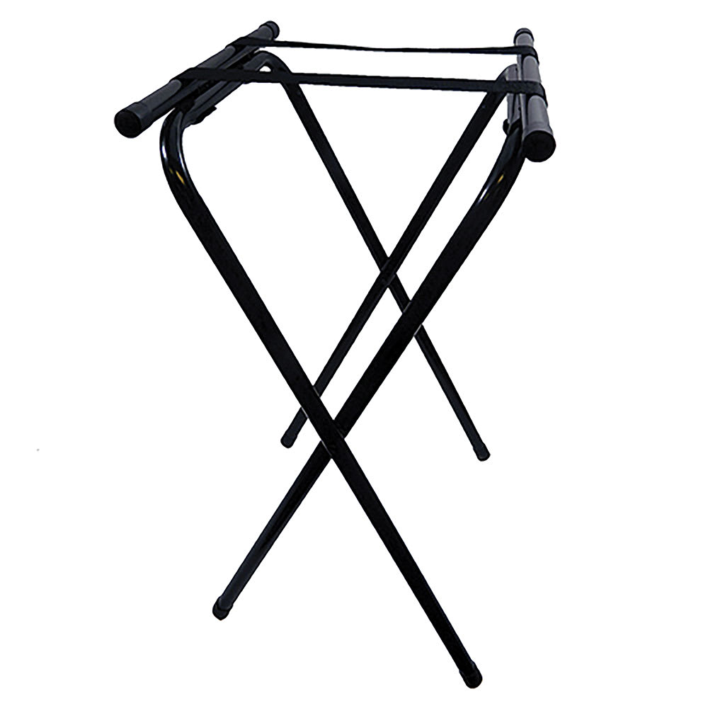 Tablecraft 24BK Tray Stand w/ Black Powder Coated Metal, Double Bar
