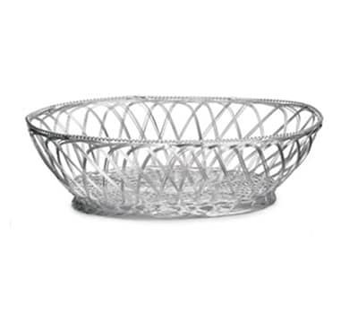 Tablecraft 3176 Round Victorian Basket, 10-1/2 x 7-1/2 x 3-1/4-in, Silver Plated