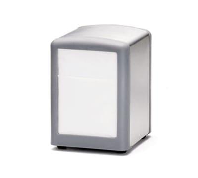 Tablecraft 3219G Stainless Steel/Plastic Napkin Dispenser, Half Size, Gray