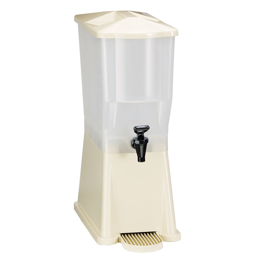 Tablecraft 356DP 3-Gallon Beverage Dispenser, Standard Faucet, Almond