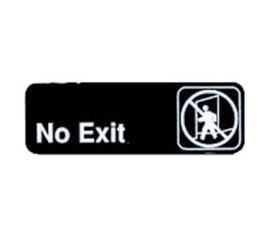 """Tablecraft 394508 3 x 9"""" Sign, No Exit, Adhesive Back"""