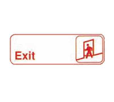Tablecraft 394509 3 x 9-in Sign, Exit, Adhesive Back