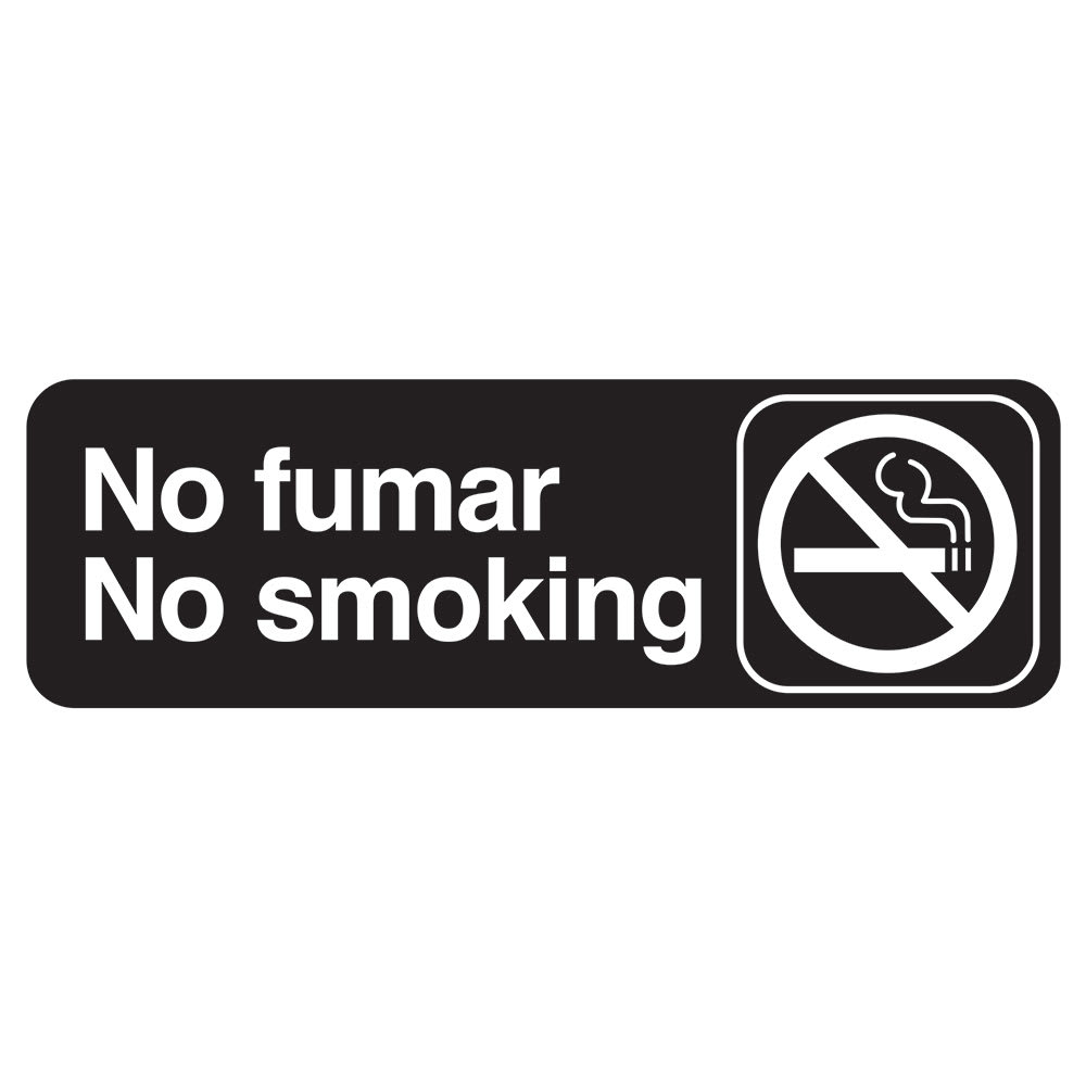 "Tablecraft 394589 3 x 9"" Sign, No Fumar / No Smoking - Spanish/English"