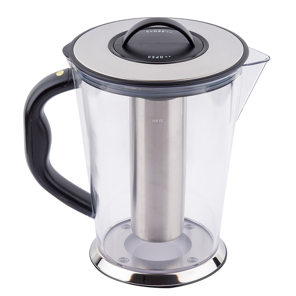 Tablecraft 3LKK 3/4-Gallon Stainless Steel Ice Core Pitcher, Polycarbonate