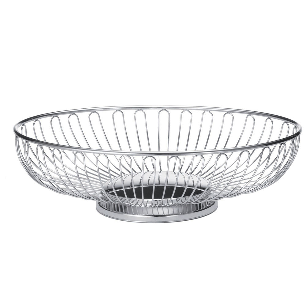"Tablecraft 4171 Oval Chalet Basket, 7-1/4 x 5-1/2"" x 2-1/2"", Chrome Plated"