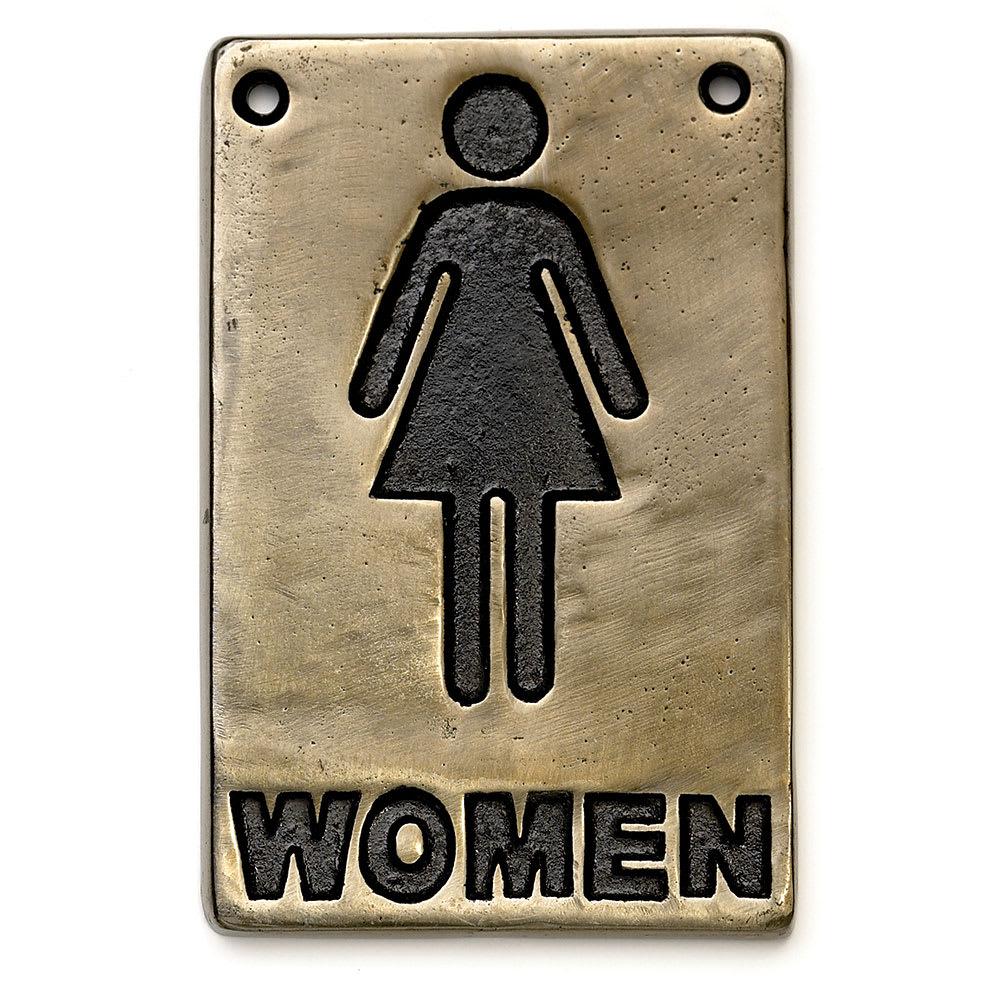 """Tablecraft 465634 Sign, 4 x 6"""", Women Restroom, Antique Bronze"""