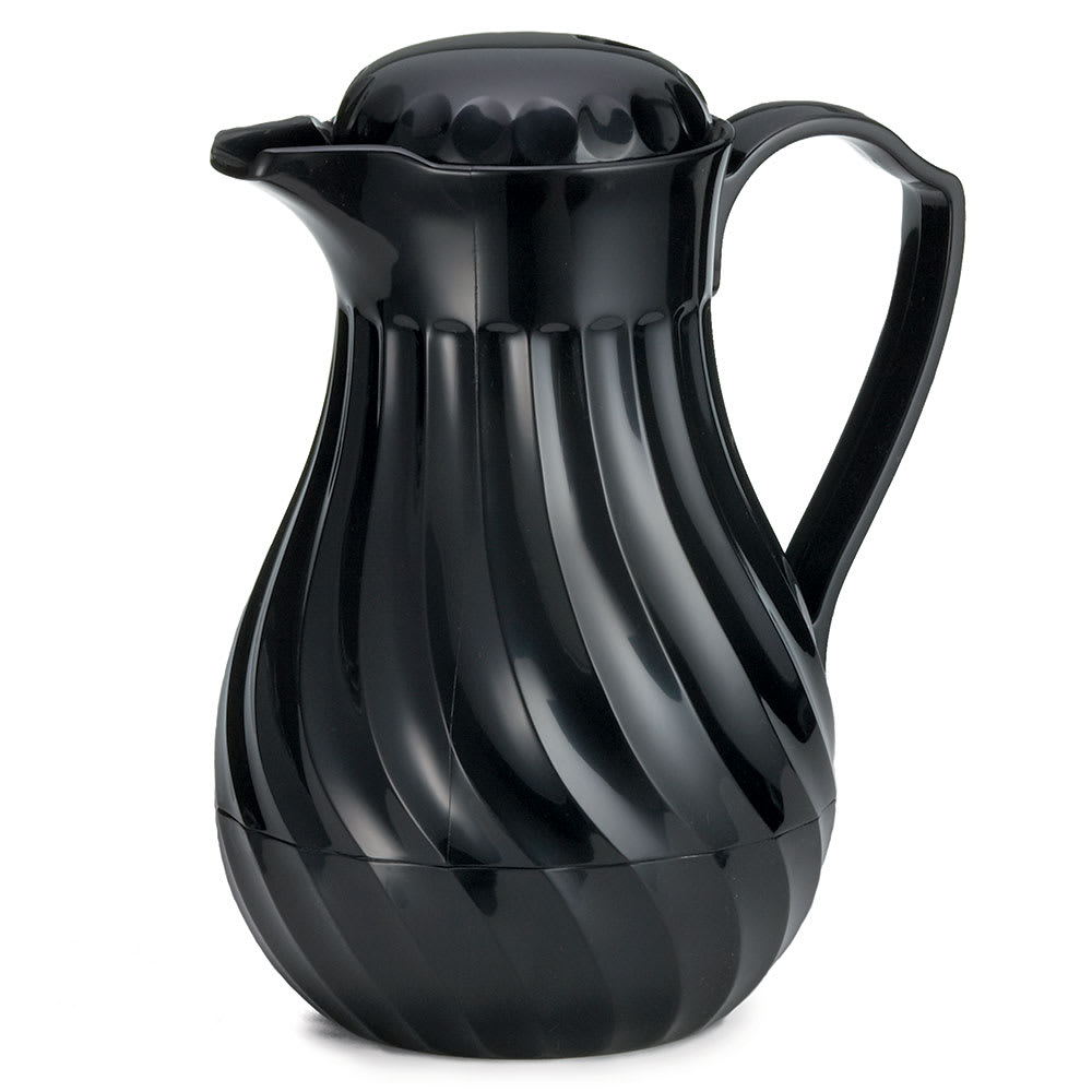 Tablecraft 472 20-oz Coffee Decanter w/ Black Plastic Swirl, Color Tag Set