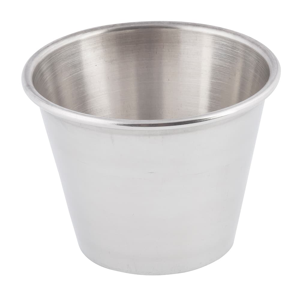 Tablecraft 5067 2 1/2 oz Stainless Steel Sauce Cup