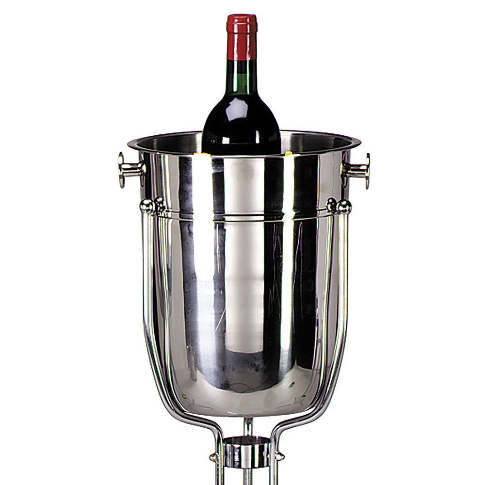 Tablecraft 5188 8-Quart Stainless Steel Wine Champagne Bucket w/ Mirror Finish
