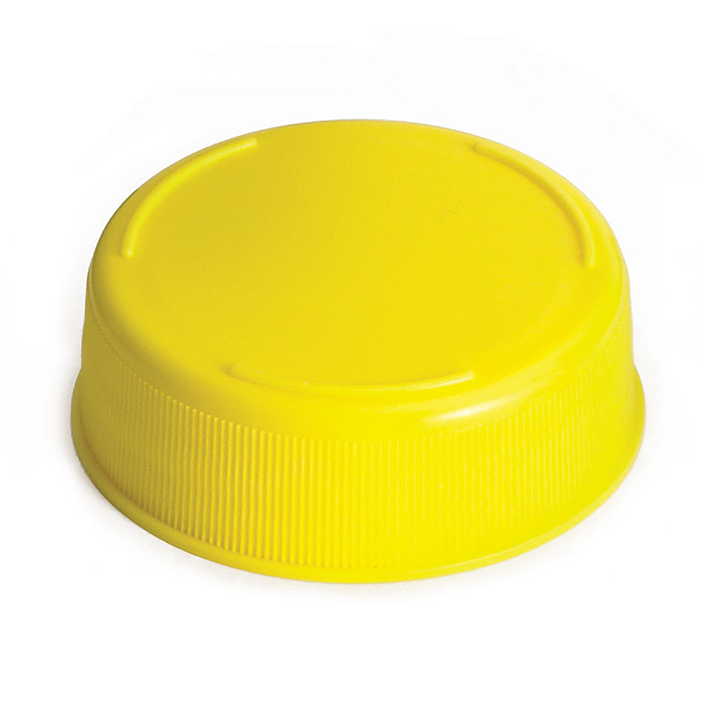 Tablecraft 53FCAPY Squeeze Bottle End Cap - Yellow