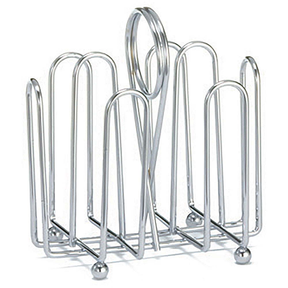 Tablecraft 597C Chrome Plated Jelly Packet Rack, Fits Packets Up To 2 x 1 1/2""