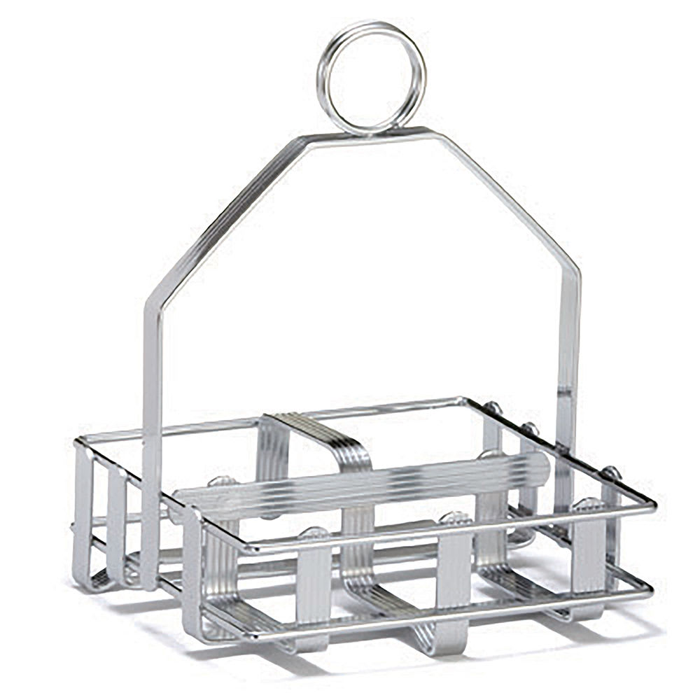 Tablecraft 609R Wire Condiment Rack w/ Merchandising Ring, Chrome Plated