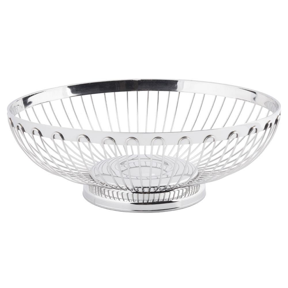 "Tablecraft 6174 Oval Regent Basket, 9-1/2 x 7-1/4"", 18-8 Stainless Steel"