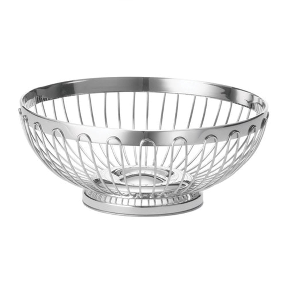 "Tablecraft 6175 Round Regent Basket, 10 x 3 3/4"", Stainless Steel"