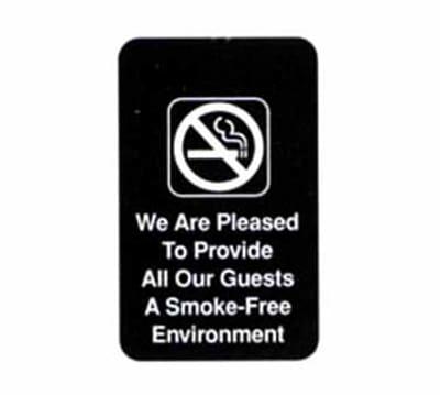 Tablecraft 695601 6 x 9-in Sign, Smoke-Free, Adhesive Back