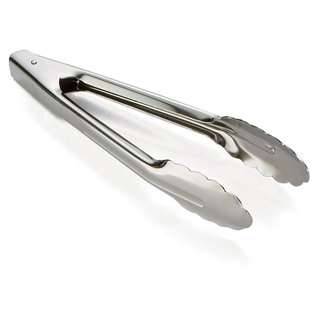 "Tablecraft 74 9.5""L Stainless Utility Tongs"