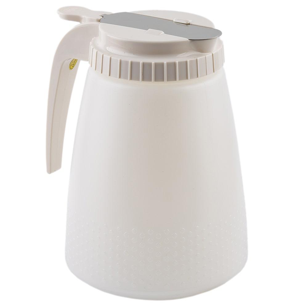 Tablecraft 748W Liquid Dispenser, 48 oz., White ABS Top, All Purpose