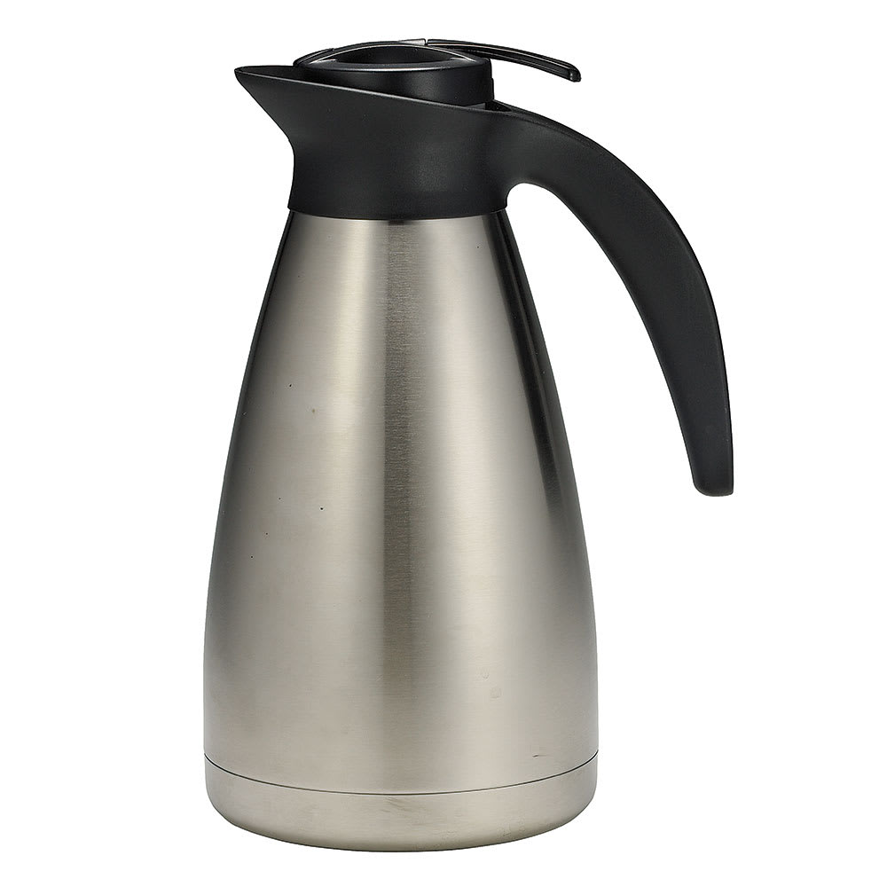 Tablecraft 750 50-oz Stainless Steel Coffee Decanter w/ Plastic Thumb Press
