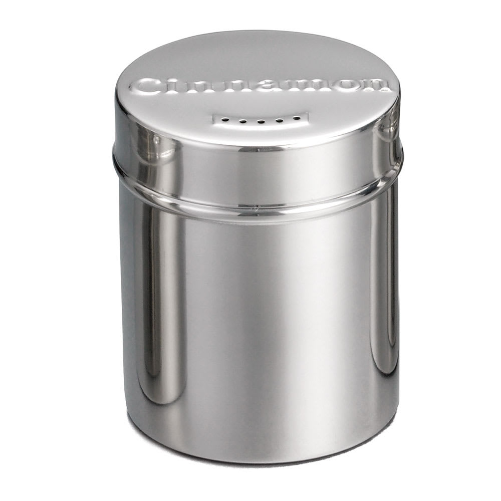 Tablecraft 754 6-oz Stainless Steel Coffee Shaker w/ Storage Lid for Cinnamon