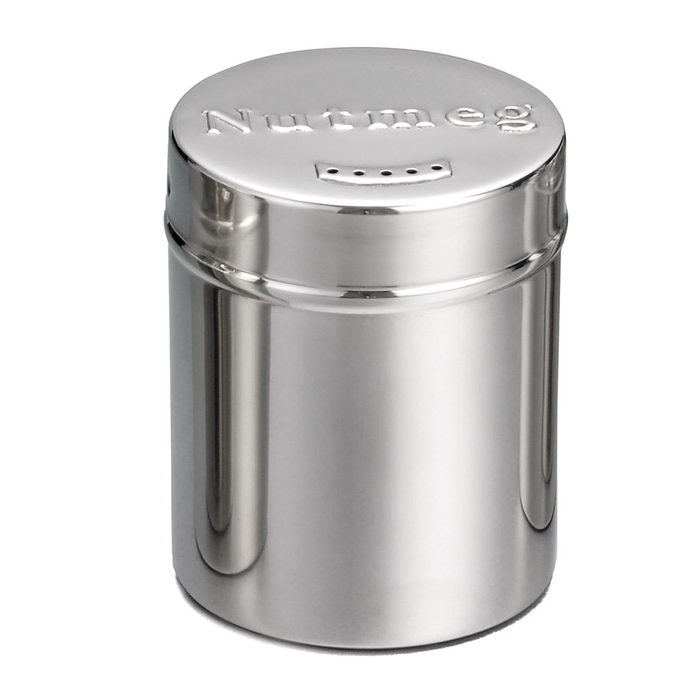 Tablecraft 756 6 oz Stainless Steel Coffee Shaker w/ Storage Lid for Nutmeg