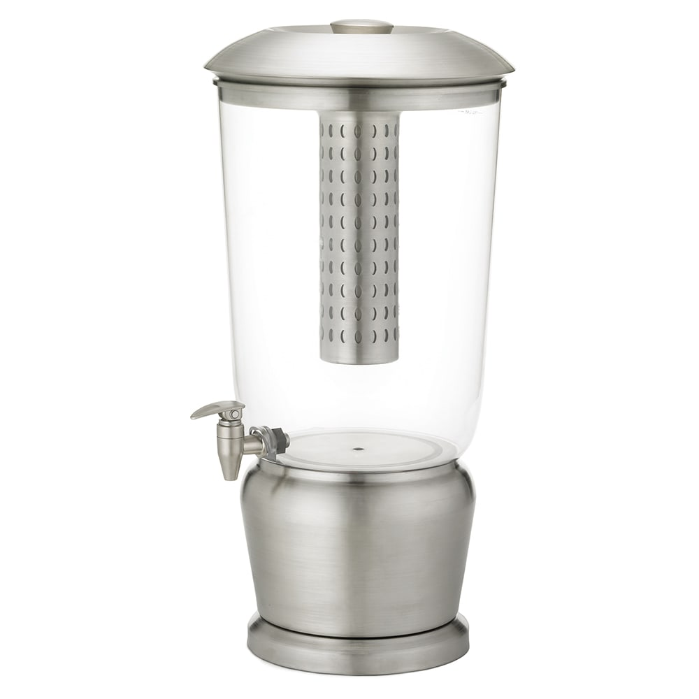 Tablecraft 85 Single Beverage Dispenser w/ 5 gal Capacity & Removable Infuser, Stainless