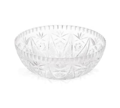 Tablecraft 900C Round Crystalware Bowl, 11 x 4 in, High Impact Styrene
