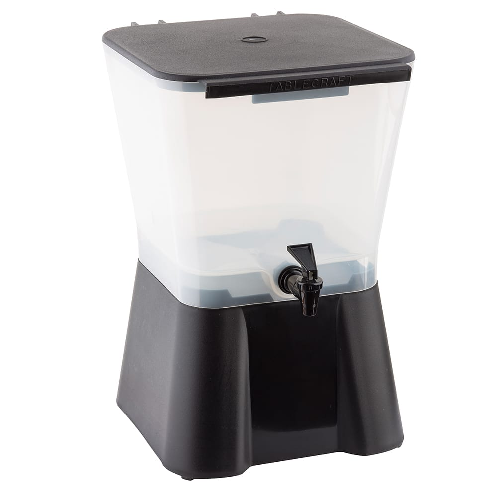 Tablecraft 953 Beverage Dispenser, 3 Gallon, Black Base, Poly, Tomlinson Faucet, NSF