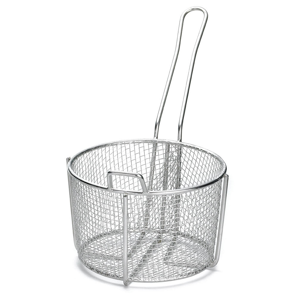 "Tablecraft 987 8.25"" Round Fryer Basket, Steel"
