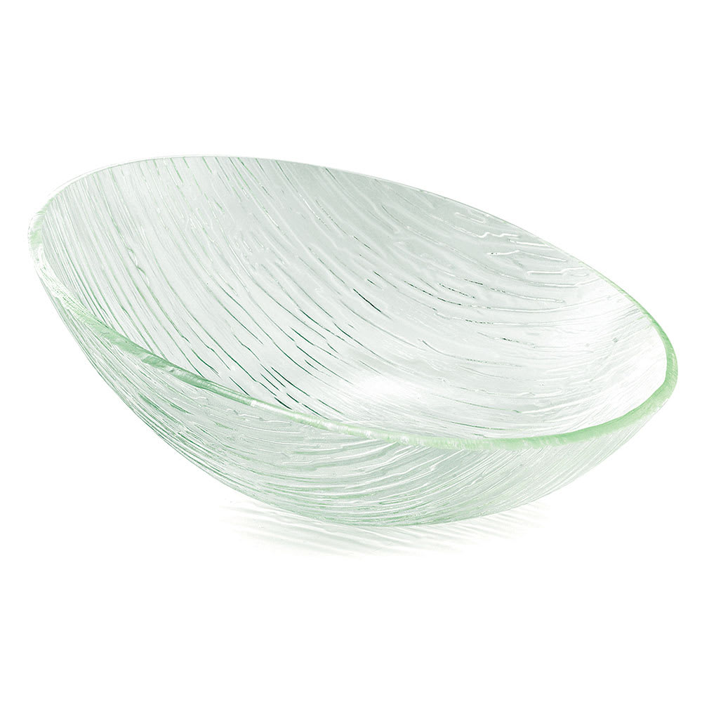 Tablecraft AB176 Oval Cristal Collection Bowl, 17 x 7 in, Sloped, Acrylic