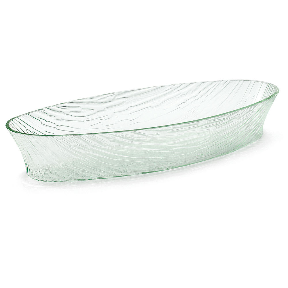 "Tablecraft AB209 Oval Cristal Collection Bowl, 19.25 L x 8 W x 3.5""H, Acrylic"