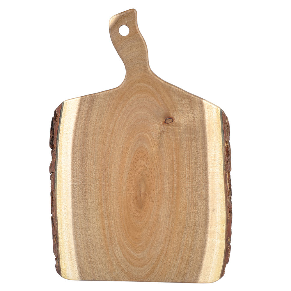 "Tablecraft ACABB1409 Bread Board - 14"" x 9"", Bark-Lined Wood"
