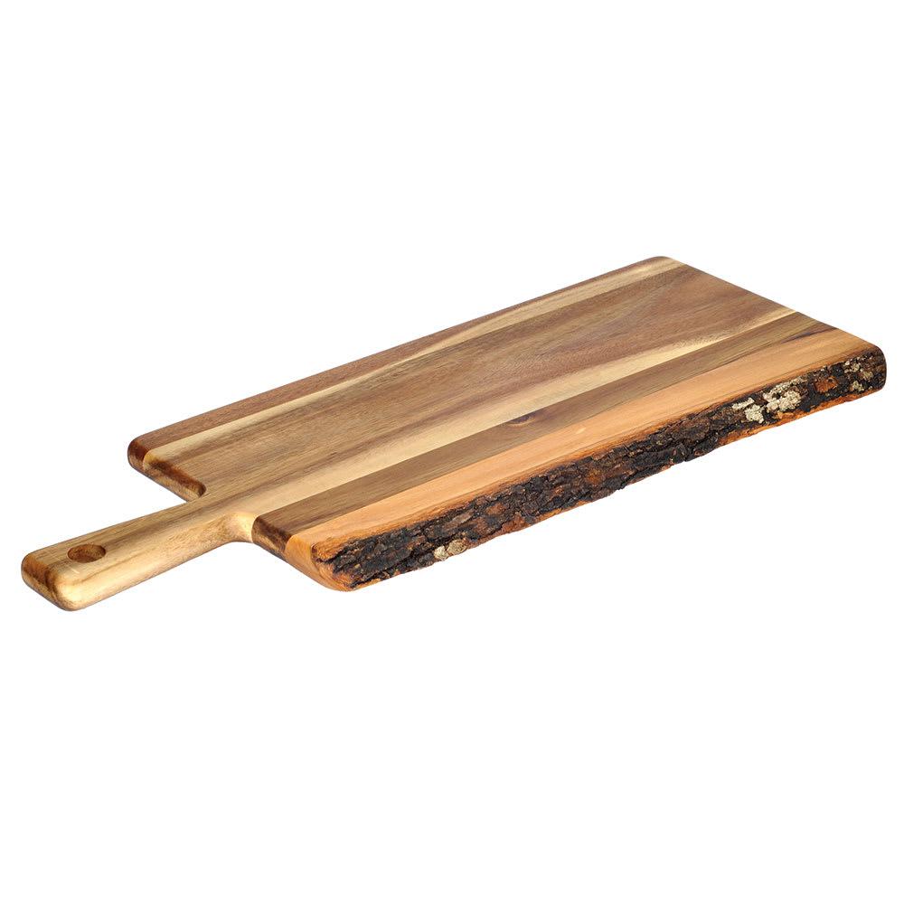 "Tablecraft ACAPB2208 Display Paddle Board - 22"" x 8"", Bark-Lined Wood"