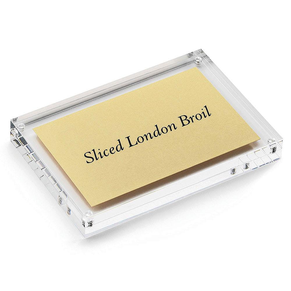"Tablecraft ACH46 Rectangular Magnetic Card Sign Holder, 4 x 4 x .75"", Acrylic"