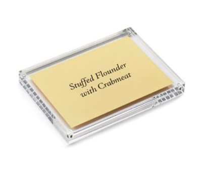 Tablecraft ACH57 Rectangular Magnetic Card Sign Holder, 5 x 5 x 7""