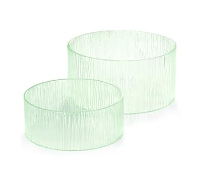 Tablecraft AR2 Round Cristal Collection Riser Set, 2 Piece, One Each 12 & 10 in Dia, Acrylic