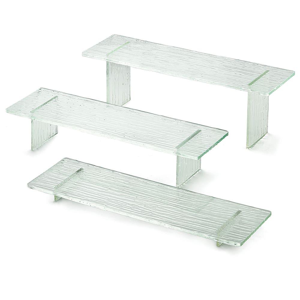 Tablecraft ARL3 3-Piece Riser Set w/ Straight Legs, Acrylic