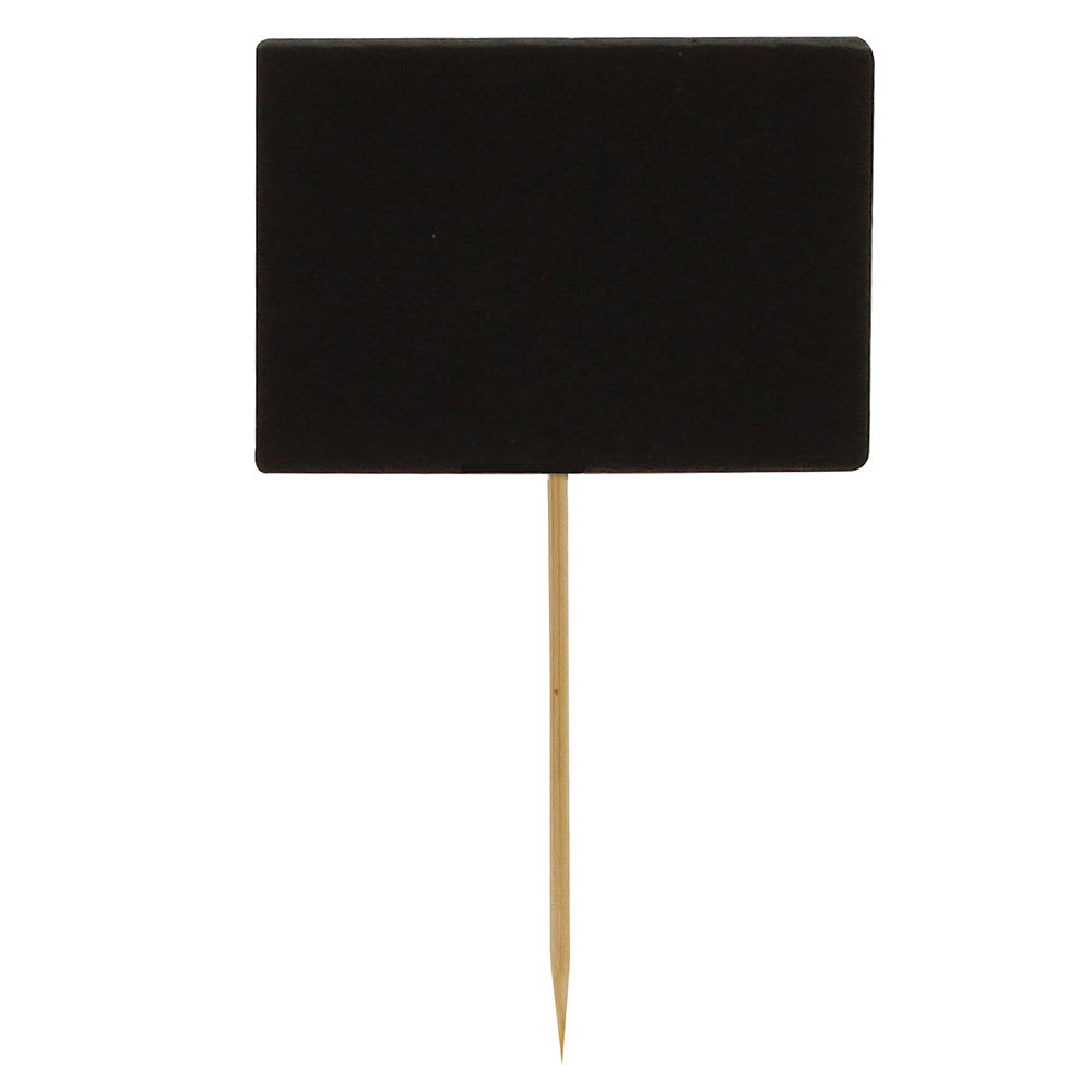 "Tablecraft BAMDCB35 3.5"" Bamboo Pick w/ Chalkboard"