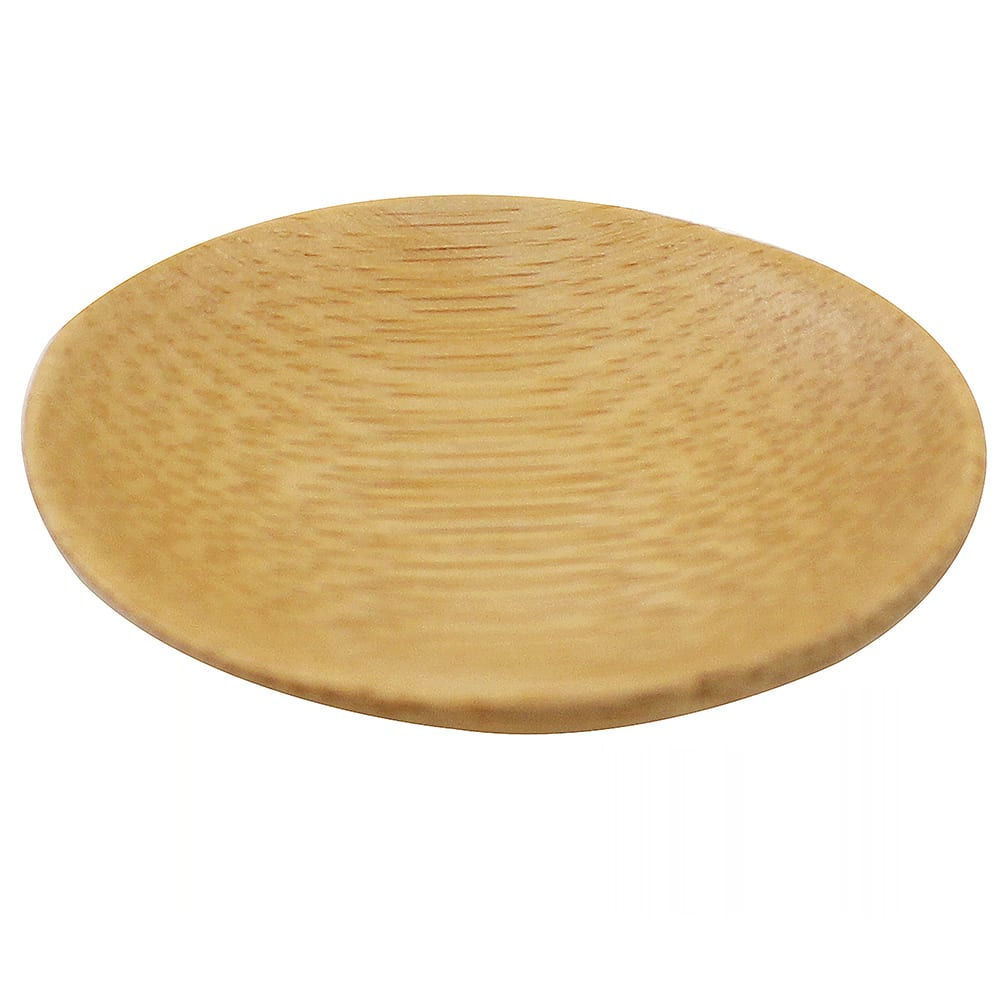 "Tablecraft BAMDRBAM2 2.5"" Round Disposable Plate - Bamboo"