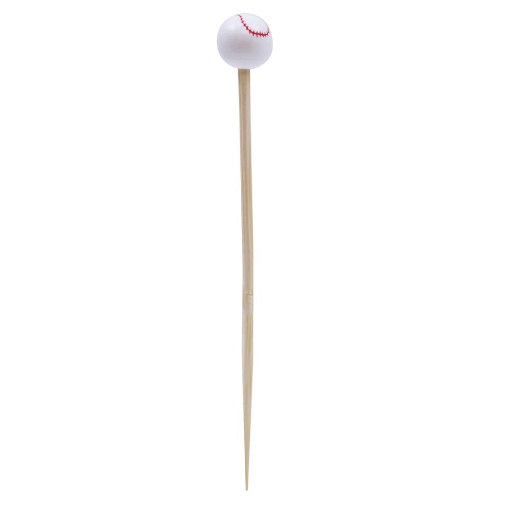 "Tablecraft BAMSP145 4.5"" Bamboo Baseball Pick"
