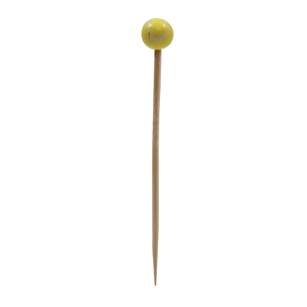 "Tablecraft BAMSP445 4.5"" Bamboo Tennis Ball Pick"