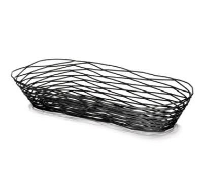 Tablecraft BK11815 Artisan Collection Basket, 15 in x 6 in x 2.5 in, Oblong, Black