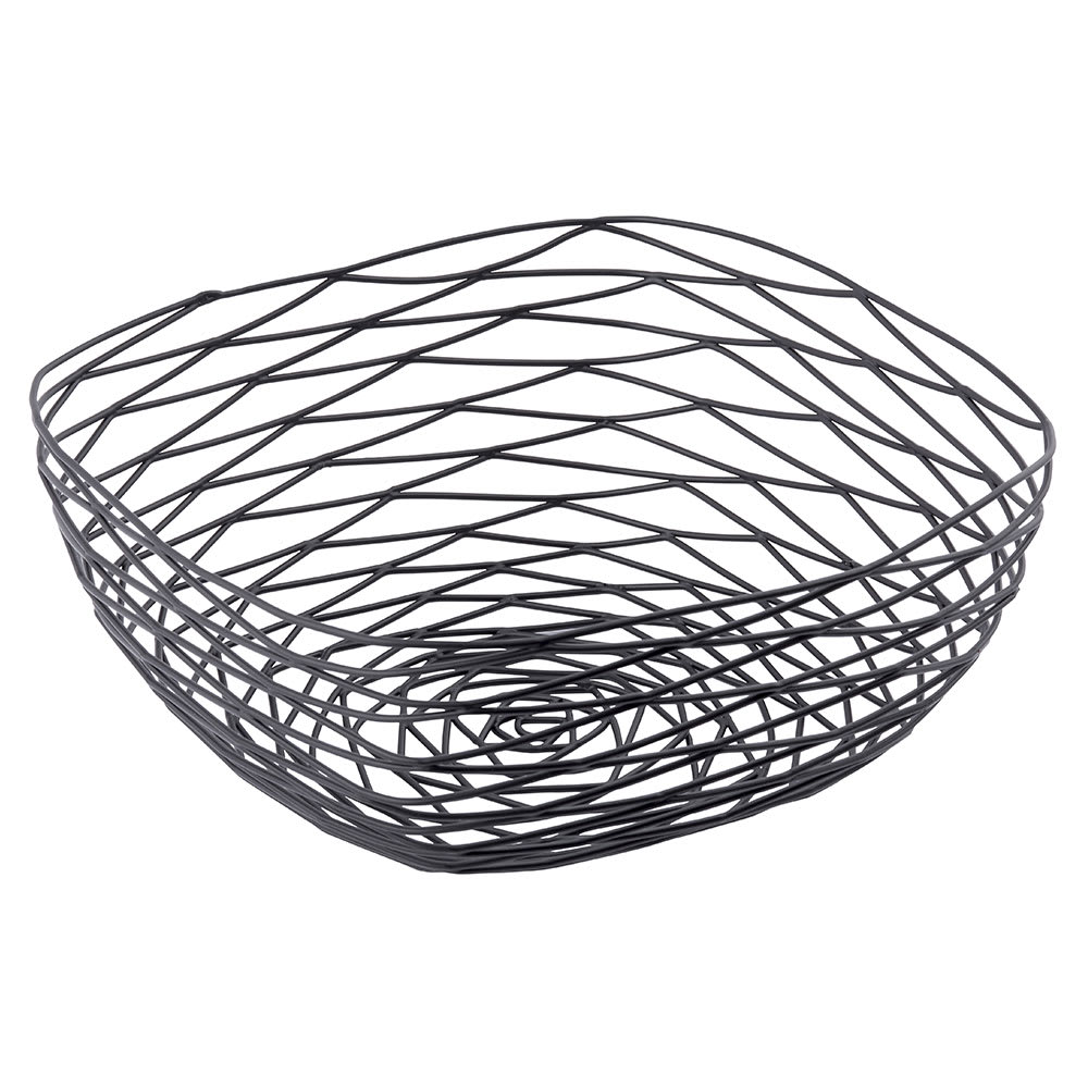Tablecraft BK17310 Square Artisan Collection Basket, 10 x 4 in, Metal, Black