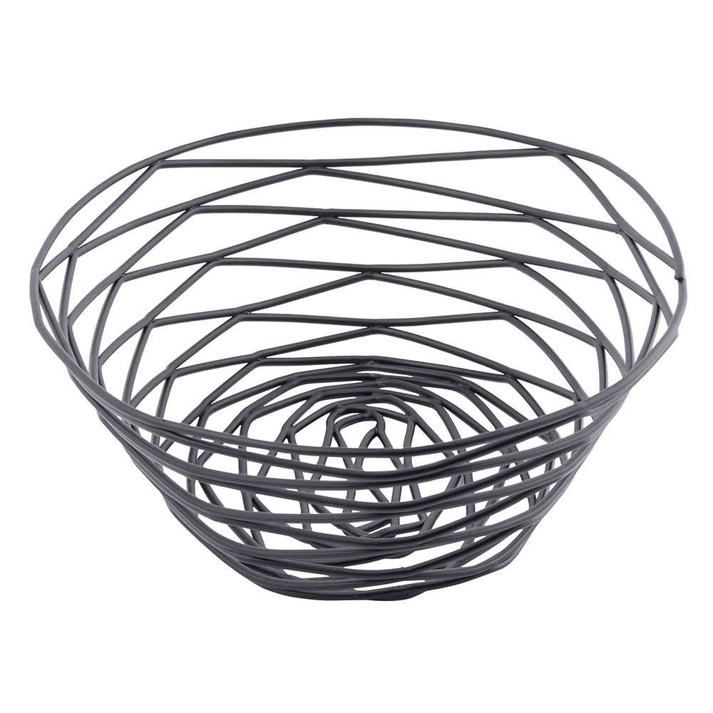"Tablecraft BK17409 Artisan Collection Basket, 9"" X 6"" X 2.25 in, Oval, Black"