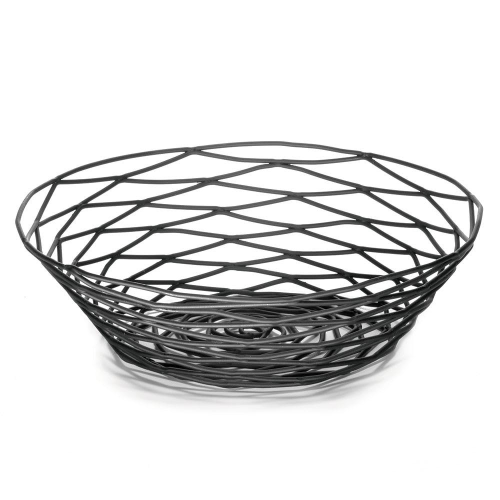 """Tablecraft BK17508 Artisan Collection Basket, 8"""" X 2"""" Round, Black"""
