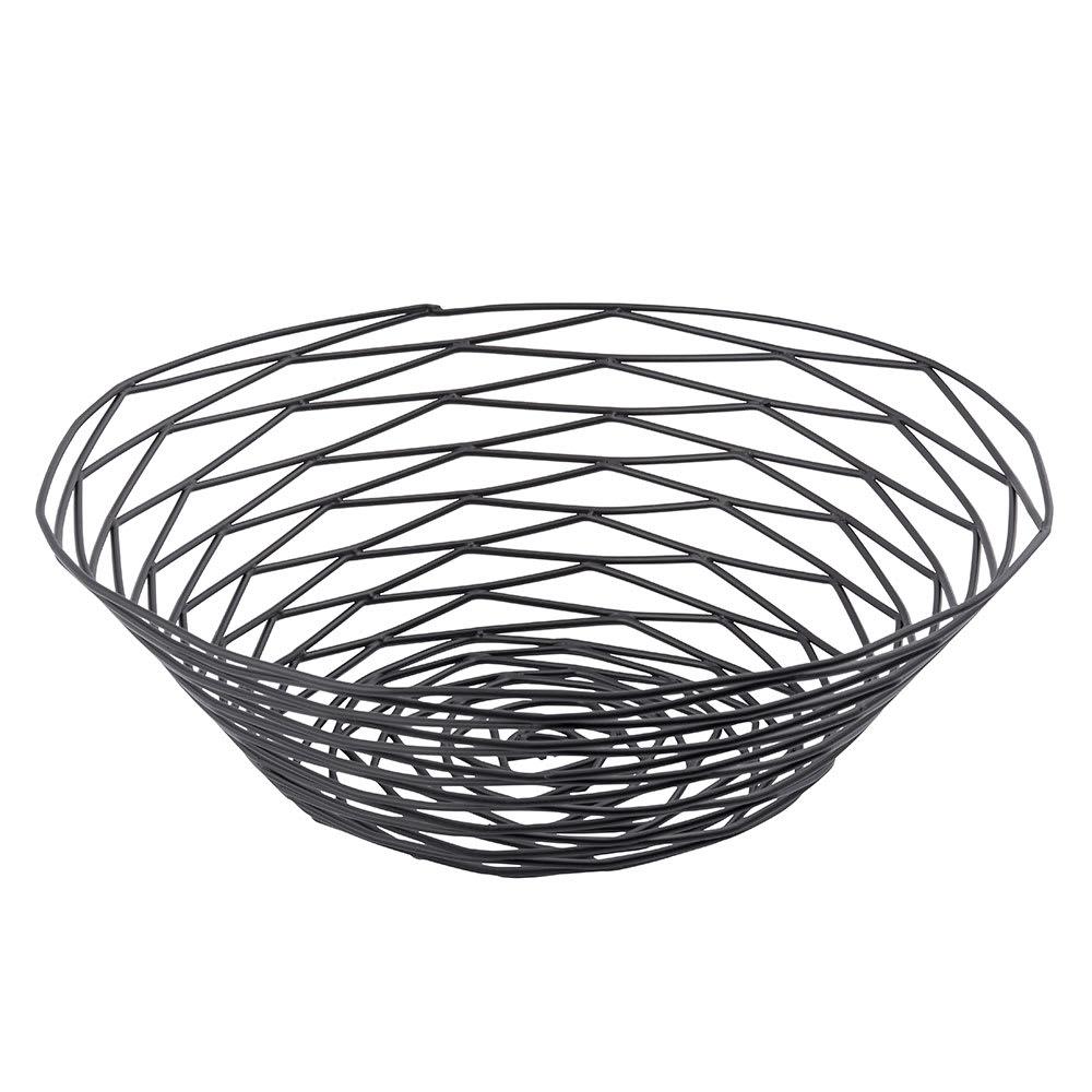 """Tablecraft BK17510 Artisan Collection Basket, 10"""" Round, Black"""