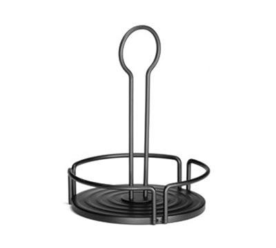 "Tablecraft BKDIA780 Black Powder Coated Metal Versa Rack w/ 7.80"" Diameter"