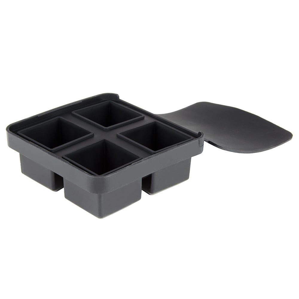 Tablecraft BSCT2 4-Section Ice Cube Tray - Silicone, Black